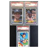 (3) 1984 Graded Cards