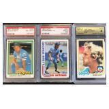 (3) George Brett Cards