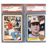 (2) Cal Ripken Graded Cards