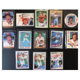 (13) Various Mike Schmidt Baseball Cards