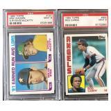 (2) TOPPS Graded Baseball Cards