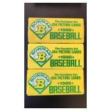 (3) Bowman 1989 Baseball Picture cards