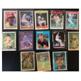 (13) Various Steve Carlton Baseball Cards