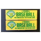 (2) 1989 Baseball Complete Set