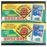(2) 1989 Bowman Complete Sets comeback edition