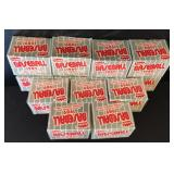 (13) 1989 Fleer logo stickers and trading cards