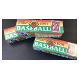 (3) 1991 Bowman Baseball Sets