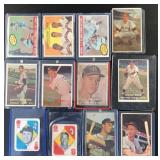 (12) 1950s Various Cards
