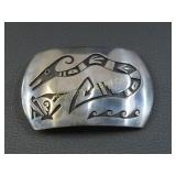 Native American Belt Buckle Sterling Silver