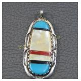 Native American Pendant Multi Stone