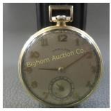 Hamilton Pocket Watch, 17 Jewels 14K Gold Filled