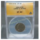 1941-S Jefferson Nickel ANACS EF-40