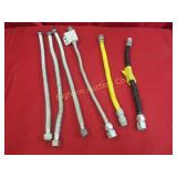 "Plumbers Gas Flex Lines 6pc lot 3/4"" x 18"" - 24"""