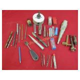 Assorted Taps, Hole Saws, Chisels