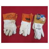 Weldmark Welding Gloves: 3 pair in lot