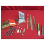 Drill Bits, Chisels, Files Various Sizes & Styles