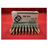 Ammo .308 Win 20 Rounds CIP 150 Gr. FMJ