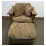 Flexsteel Craftsman Style Chair w/ Ottoman