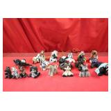 Clay Horse Collection Approx. 18pc lot