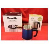 Bouilloire Mini Coffee Maker, Blue Stainless Steel