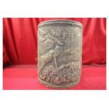 Vintage Crock w/ Elk & Deer Signed USA