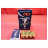Ammo .22LR 500 Rounds CCI 40 Gr. Lead Round Nose