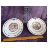 Ivory Lamberton China  Scammel  plates