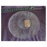 "Fedral glass Diana Clear 11.5/8"" sandwich plate"