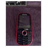 Red Verizone Samsung phone