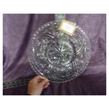 """Anchor Hocking Stars and Bars torte plate-12.3/4"""""""