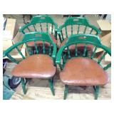 Set of 4 Wooden saloon style chairs