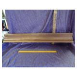 Oak wooden shelf/plate holder