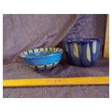 Pair of glazed bowls