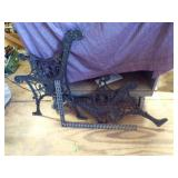 Pair of heavy duty Iron bench legs