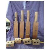 Handcarve wooden table legs