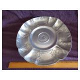 Vintage  Alum serving tray-spins