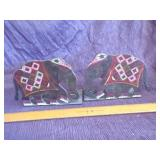 Pair of brass  Elephant bookends