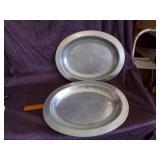Pair of metal Platters