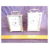 Pair of Desktop quartze clocks