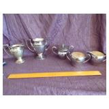 Misc silverplate Cream and sugars lot