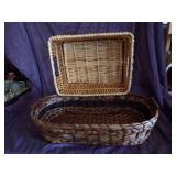 2 Large wicker baskets