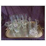 Misc Crystal glass lot