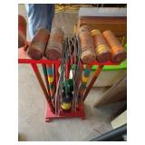 Old wooden Croquet set