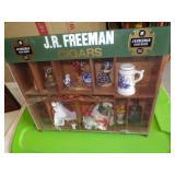 JR Freeman Cigar display-with misc contents