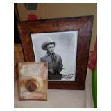 Framed Signed Roy Rogers photo and Yo Yo
