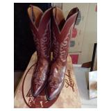Luchese Classic mens leather boots and orig box