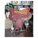 Leather Western Saddle with stand