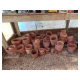 Large lot of Clay flowere pots