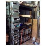 Metal Tool bins lot-shelf not included