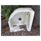 Corner Cast iron sink